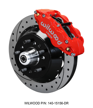 "Wilwood Forged Narrow Superlite 6R Big Brake Front Brake Kit (5 x 5.00"" Hub) - Red Powder Coat Caliper - SRP Drilled & Slotted Rotor"