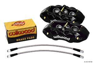 Wilwood D8-6 Front Replacement Caliper Kit - Black Powder Coat Caliper