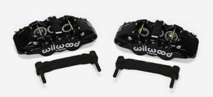 Wilwood AERO6 Front Caliper and Bracket Upgrade Kit for Corvette C5-C6 - Black Powder Coat Caliper