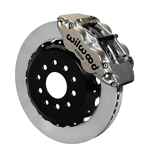 Wilwood Forged Superlite 4R Big Brake Front Brake Kit (Race) - Nickel Plate Caliper - Plain Face Rotor
