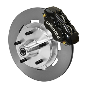 Wilwood Forged Dynalite Big Brake Front Brake Kit (5 x 5 Hub) - Black Powder Coat Caliper - Plain Face Rotor