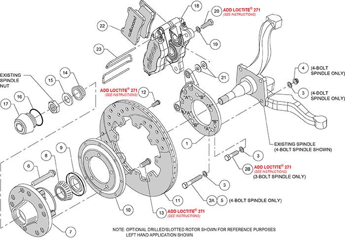 Dynapro Dust-Boot Big Brake Front Brake Kit (Hub) Assembly Schematic