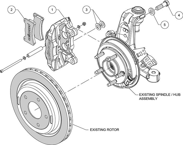 Types Of Brake Fade : Wilwood high performance disc brakes rear brake kit
