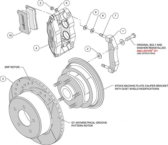 Wilwood Brake Kit, DynaPro Radical Rear Brake Kit for OE