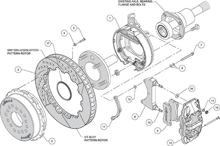 10  12bolt 2 81 offset wilwood rear 14srp brake kit