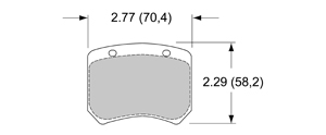 View Brake Pads with Plate #52XX