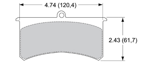 View Brake Pads with Plate #73XX
