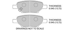 View Brake Pads with Plate #D1033