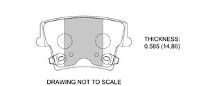 View Brake Pads with Plate #D1057B