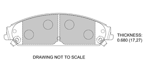 View Brake Pads with Plate #D1058