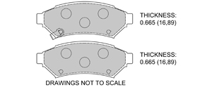 View Brake Pads with Plate #D1075