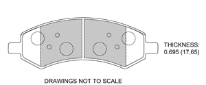 View Brake Pads with Plate #D1084