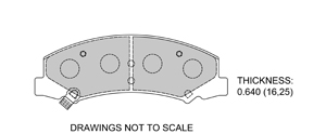 View Brake Pads with Plate #D1159