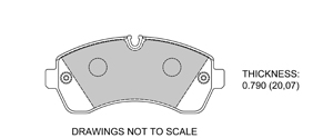 View Brake Pads with Plate #D1268