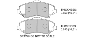 View Brake Pads with Plate #D1273