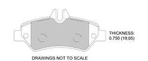 View Brake Pads with Plate #D1317