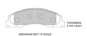 View Brake Pads with Plate #D1328