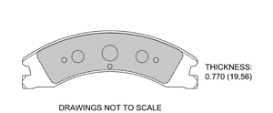 View Brake Pads with Plate #D1330