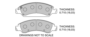 View Brake Pads with Plate #D1363