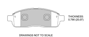 View Brake Pads with Plate #D1392