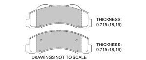 View Brake Pads with Plate #D1414