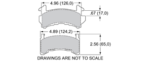 View Brake Pads with Plate #D154