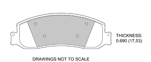 View Brake Pads with Plate #D1631A