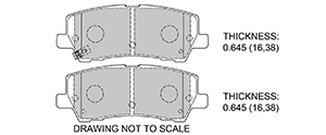 View Brake Pads with Plate #D1793