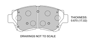 View Brake Pads with Plate #D476