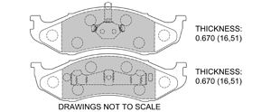 View Brake Pads with Plate #D477