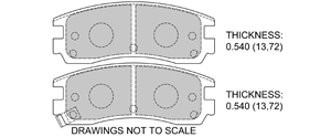 View Brake Pads with Plate #D508