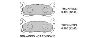 View Brake Pads with Plate #D636