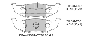 View Brake Pads with Plate #D658