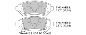 View Brake Pads with Plate #D699