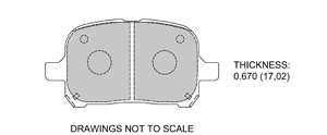 View Brake Pads with Plate #D707