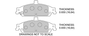 View Brake Pads with Plate #D727
