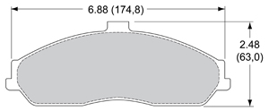 View Brake Pads with Plate #D731