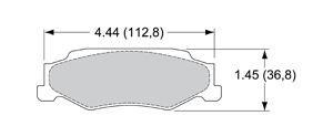 View Brake Pads with Plate #D732