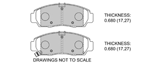 View Brake Pads with Plate #D787