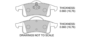 View Brake Pads with Plate #D791