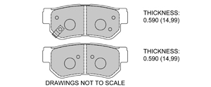 View Brake Pads with Plate #D813