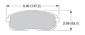 View Brake Pads with Plate #D815