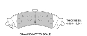 View Brake Pads with Plate #D834