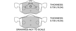 View Brake Pads with Plate #D843