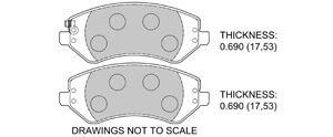 View Brake Pads with Plate #D856