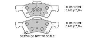 View Brake Pads with Plate #D857