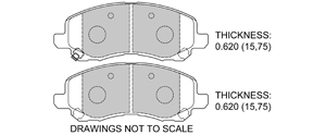 View Brake Pads with Plate #D866