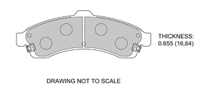 View Brake Pads with Plate #D882