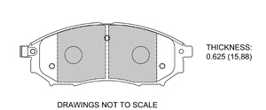 View Brake Pads with Plate #D888