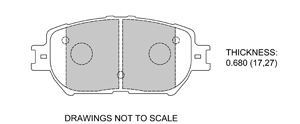 View Brake Pads with Plate #D908